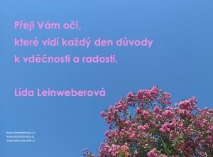 VDĚČNOST, RADOST,LEINWEBEROVÁ